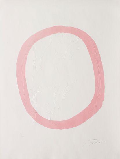 // Nudo Rosa, 1967 by Lucio Fontana