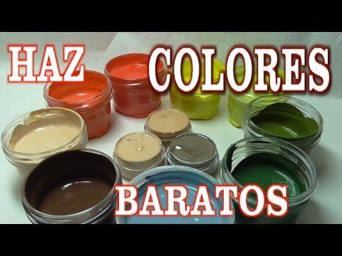 DIY HAZ PINTURAS ACRÍLICAS PARA MANUALIDADES POR POCO DINERO - MAKE YOUR OWN PAINTS FOR CRAFTS - YouTube