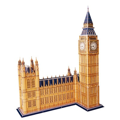 Big Ben 3D Cardboard Puzzle   LARGE  No Glue Required, Press out pieces and slot them together. From Green Ant Toys Online www.greenanttoys.com.au
