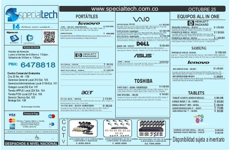 listado-de-precios-25-de-octubre-de-2013-1 by Specialtech Octavio Gonzalez via Slideshare