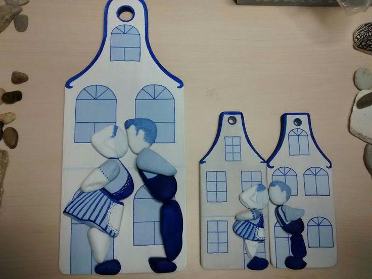 Vanaf zaterdag 18-06-'16 in de Etalagefabriek. Grote huis; € 20,- en setje van twee (losse) kleine huisjes; € 20,-