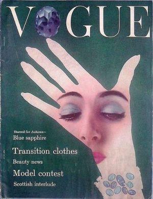 Vintage Vogue magazine covers - mylusciouslife.com - Vintage Vogue UK August 1954.jpg