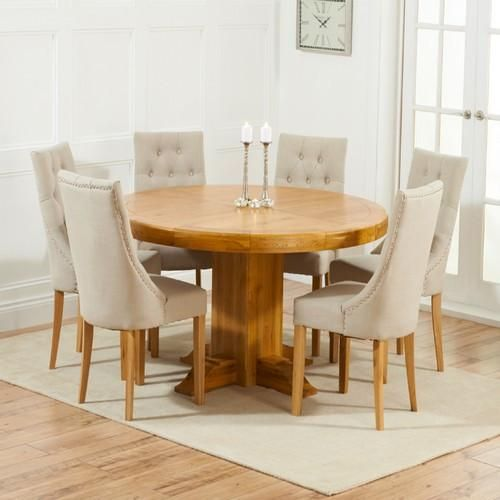 Turin 150cm Oak Dining Table with 6 Pailin Dining Chairs in Various Colours