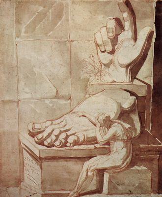 Johann Heinrich Füssli: Der Künstler verzweifelnd angesichts der Größe der antiken Trümmer