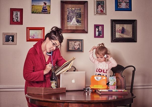 Mom Turns Chaotic Life With Toddler Into Fun Photo Series.