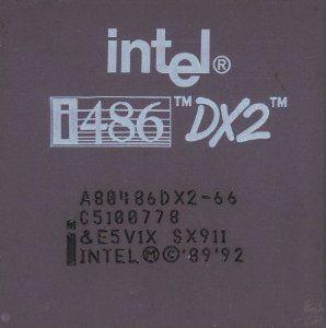 Intel 486DX2 66 mon premier processeur PC payé avec mon argent dès sa sortie :)