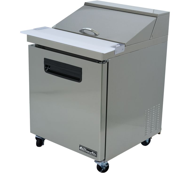 """Commercial Stainless Steel Sandwich Prep Table Refrigerator (27"""" x 30"""")"""
