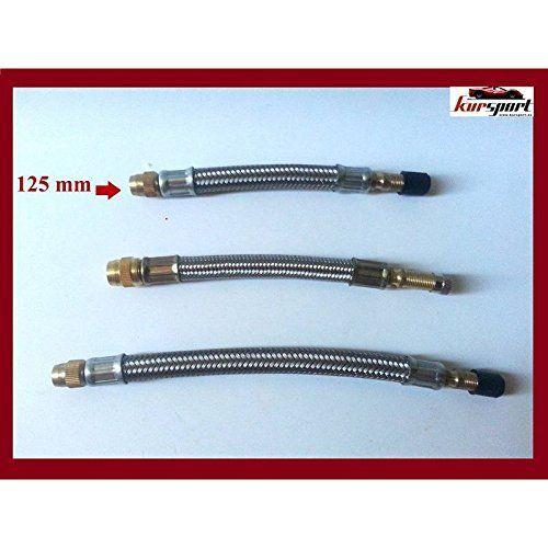 Extension de valve métal 125mm (Prix pour unité): Votre adaptateur – prolongateur de valve , fera gonfler les pneus le travail plus facile…