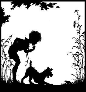 Girl And Cat Silhouette Sitting On A Swing