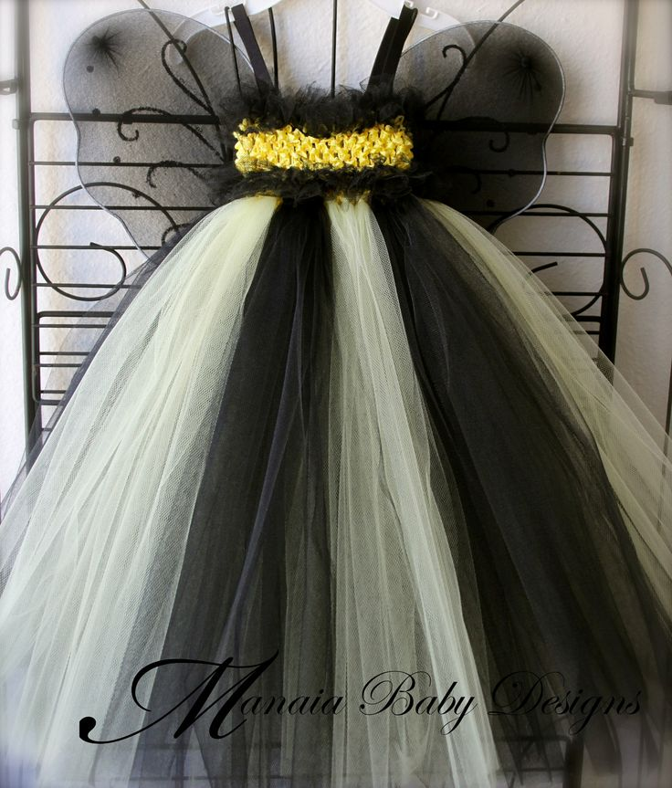 Bumblee Bee Tutu Dress/ Bumble Bee Costume by ManaiaBabyDesigns