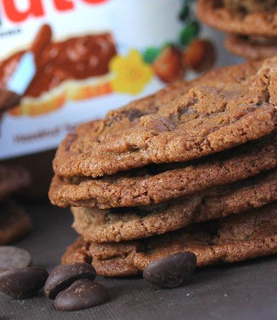 Nutella Chocolate Chip Cookies | Sweets | Pinterest | Nutella ...