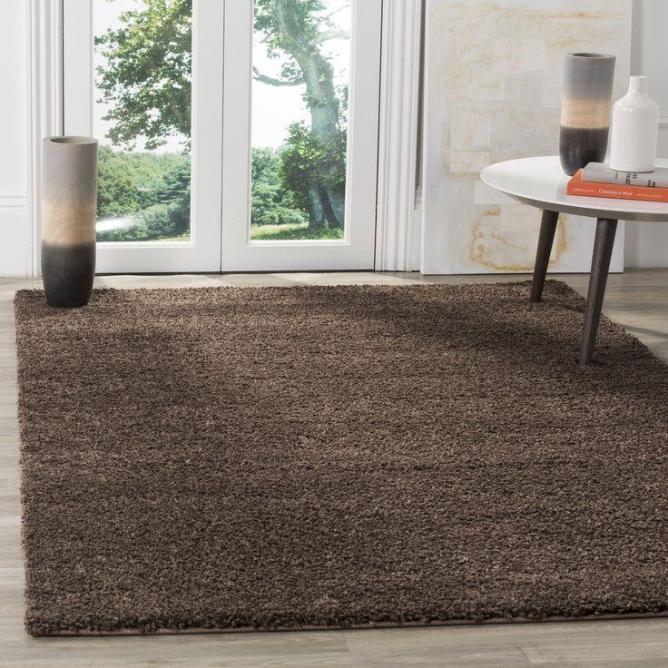 safavieh arizona shag brown shag rug 3u0027 x 5u0027 asg820l