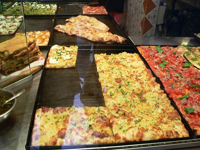 Pizza from a little shop in the Trastevere section of Rome ...