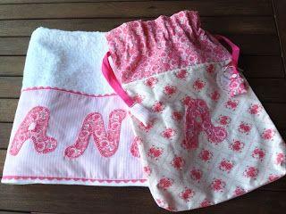 Conjunto de toalla y bolsita