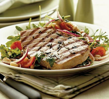 The fresh tuna in this dish has a lovely meaty texture that's even better when marinated before cooking
