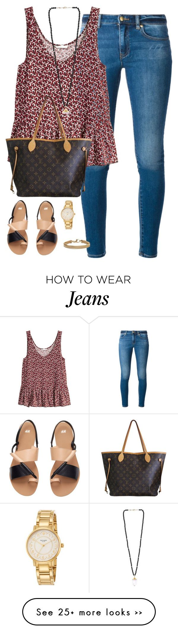 """""""and i thought about you today and i thought about all the things you used to say"""" by kaley-ii on Polyvore featuring MICHAEL Michael Kors, H&M, Louis Vuitton, Kate Spade and Blue Nile"""