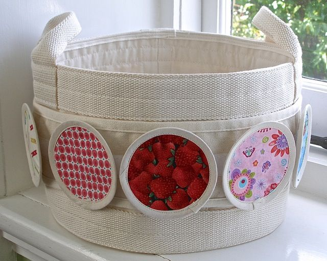 small floor storage bag and fabric circle set