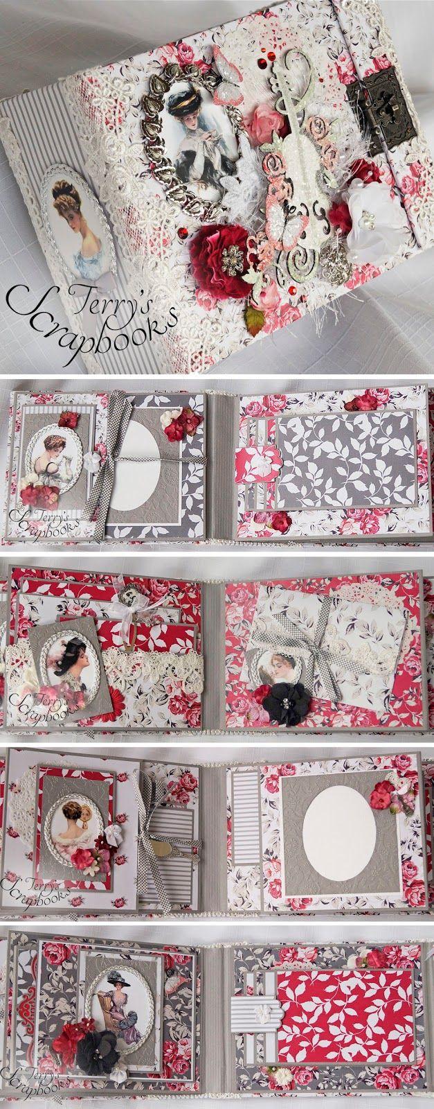 Terry's Scrapbooks: Gibson Girl Scrapbook Min Album Reneabouquets Design Team Project