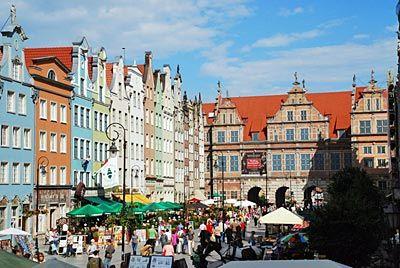 Polen - Danziger Bucht - Langer Markt und Grünes Tor in Danzig
