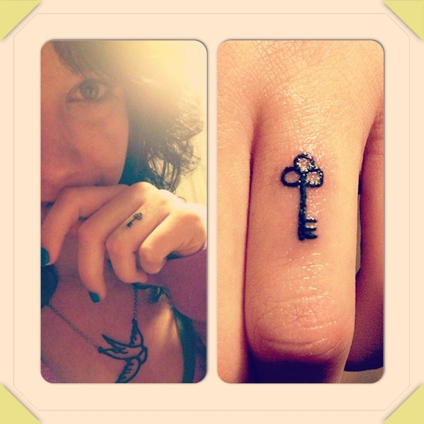 25 best ideas about small key tattoos on pinterest