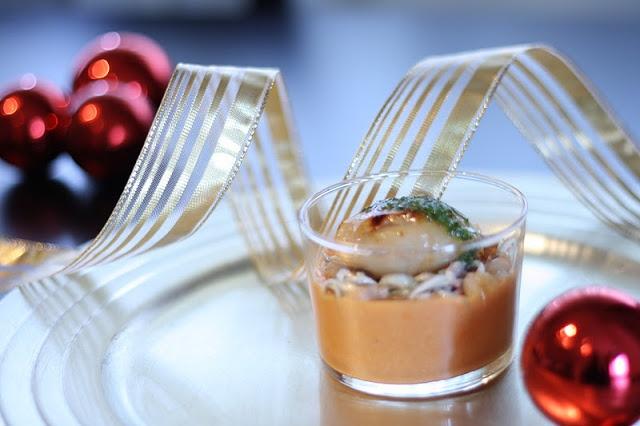 Crema de gambas y vieira en el blog de Cucharita de Palo #recetas #nestlebloggers