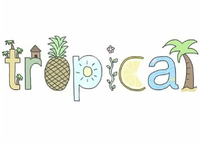 super cute drawing for the summertime...tropical :))