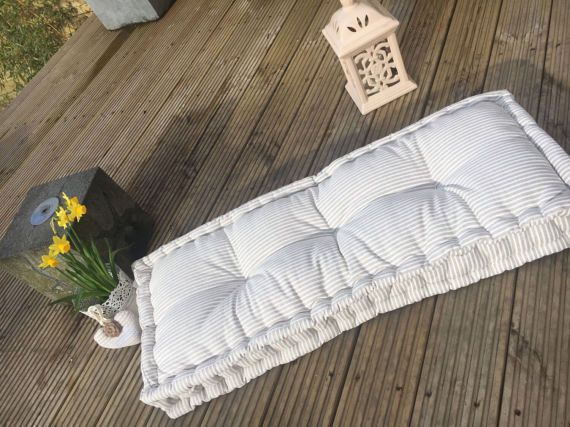 Handmade Quilted Cushion Mattress Tufted Futon Knotting Pillow Quilt French