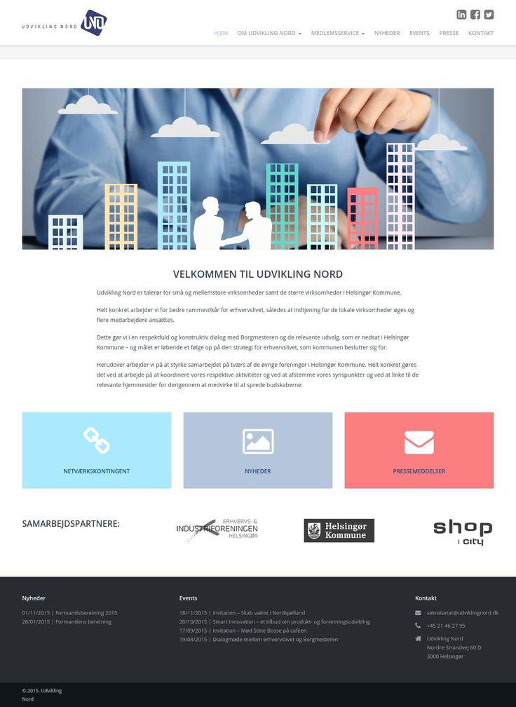 Udvikling Nord  Erhvervsforenings website med nyheder og information til medlemmerne.