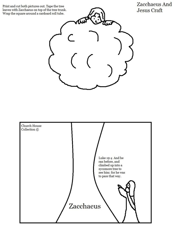 zacchaeus and jesus toilet paper roll craft for kids in sunday school or childrens church - Jesus Zacchaeus Coloring Page