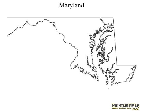 Image Gallery Maryland Printables - Maryland printable map