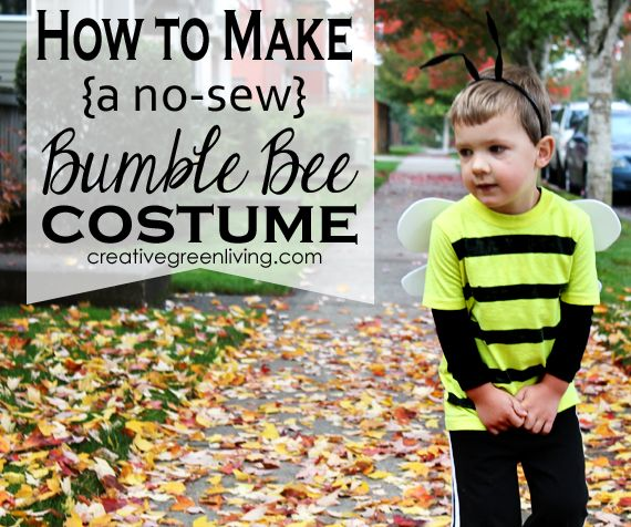 How to make a no-sew bee costume. Cute! and not expensive either.
