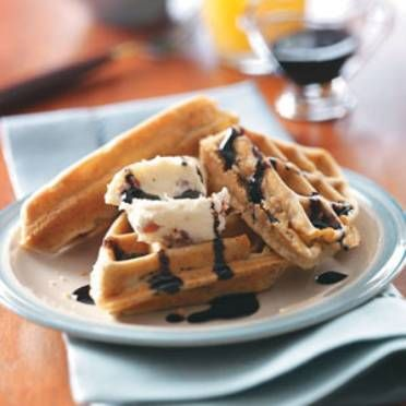 Portabella Waffles with Balsamic Syrup