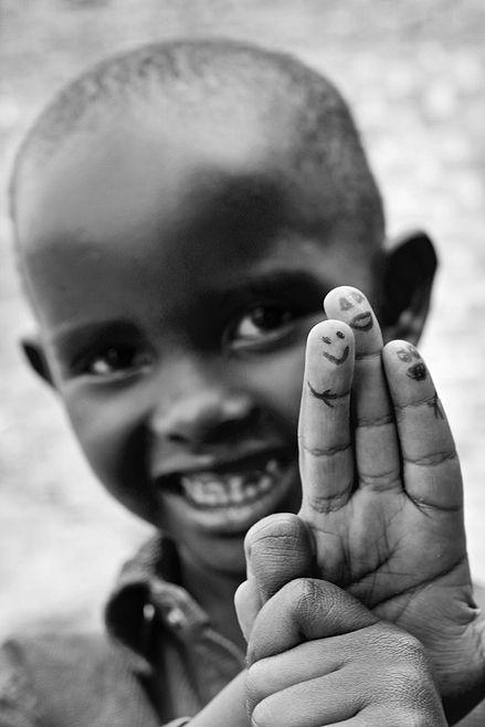 """Smiles all day"", Rwanda, Afrika"