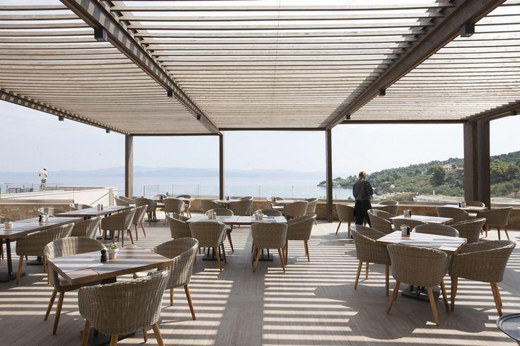 Hotel Miraggio thermal Spa Resort Halkidiki Veranda #mexil#halkidiki#hotel