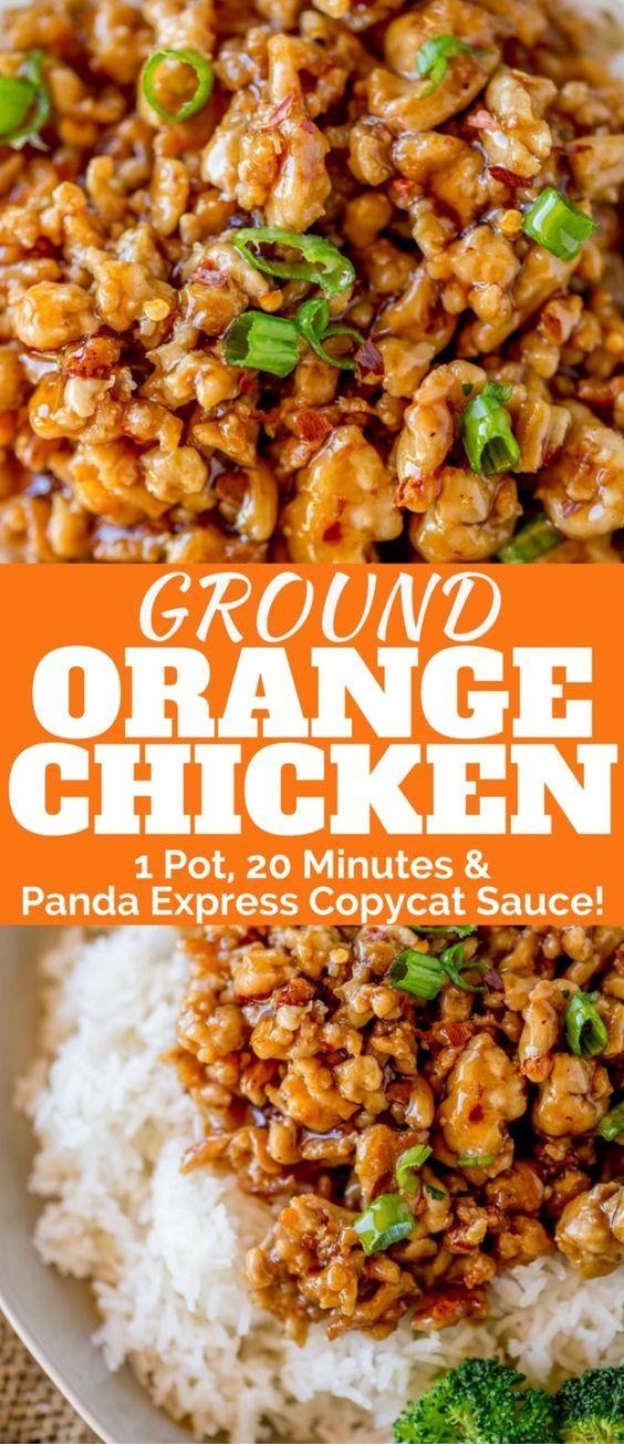 Ground Orange Chicken | Trending Recipes