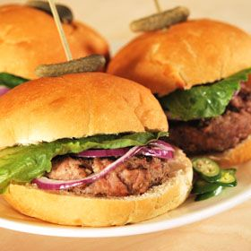 Our delicious Caribbean Burgers