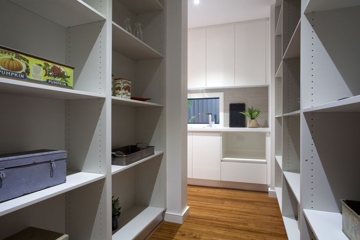 Have your pantry hidden behind your kitchen to keep it out of sight and out of mind!