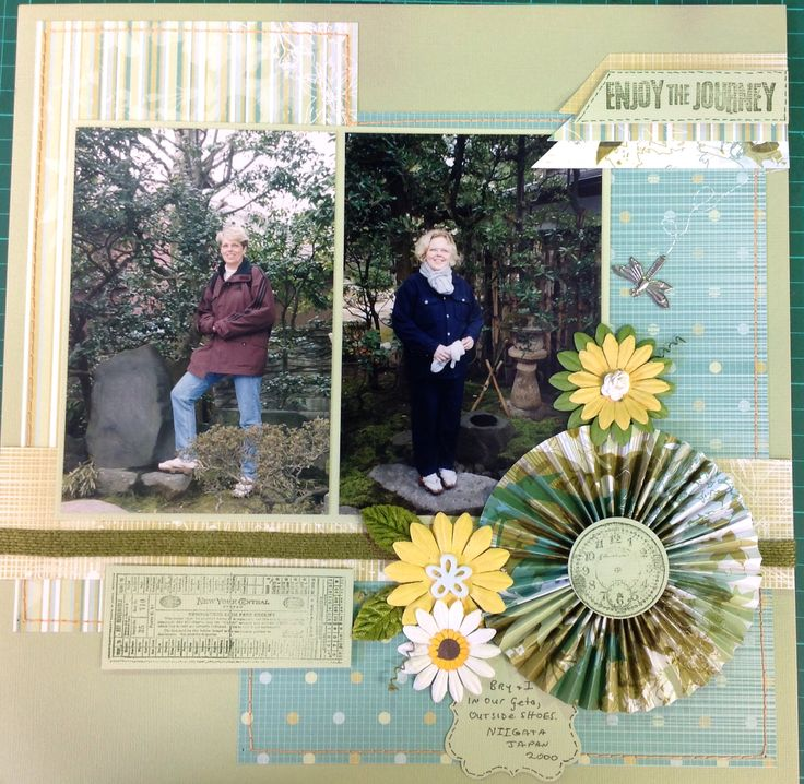 Mother and daughter in Japan.  Layout from Leigh Cooper's Saturday classes.