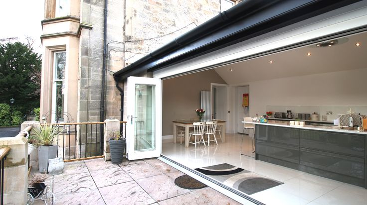 Modern kitchen. Our Latest house extension to Clackmannanshire mansion