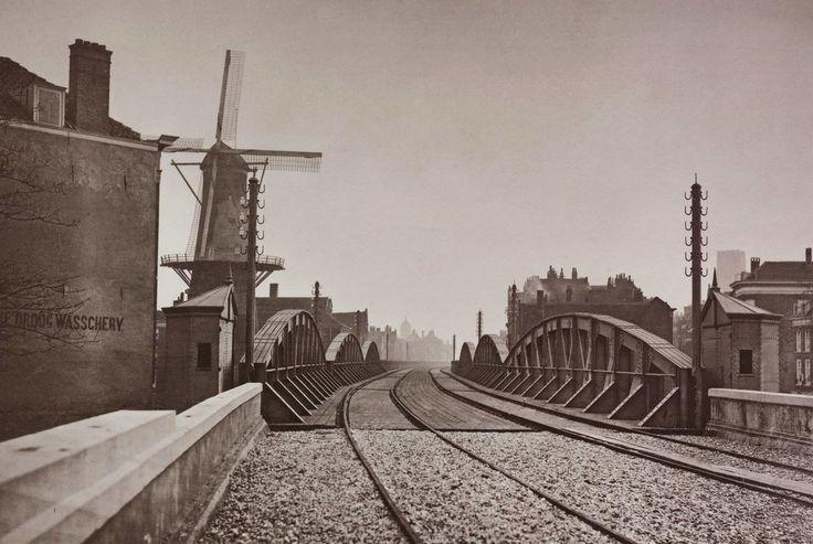 Hofplein Rotterdam (jaartal: 1877 - Foto's SERC) oudste foto van rotterdam