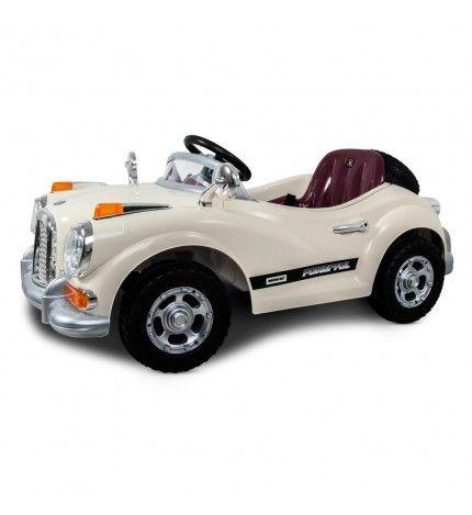 Samochód na akumulator dla dziecka Roy Roy kremowy