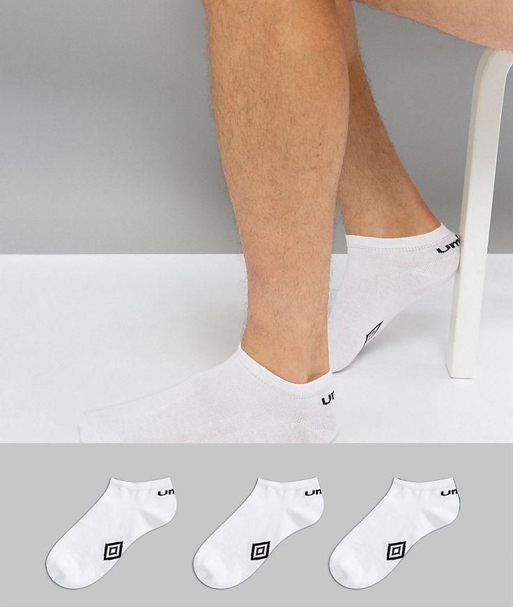 UMBRO 3PK SNEAKER SOCKS - WHITE. #umbro #