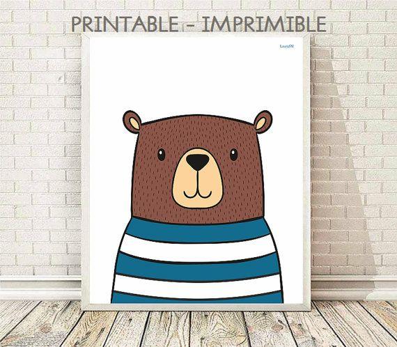 laminas infantiles, laminas animales, animales infantiles, laminas imprimibles, oso, osito, habitacion infantil, cuadros , poster infantil