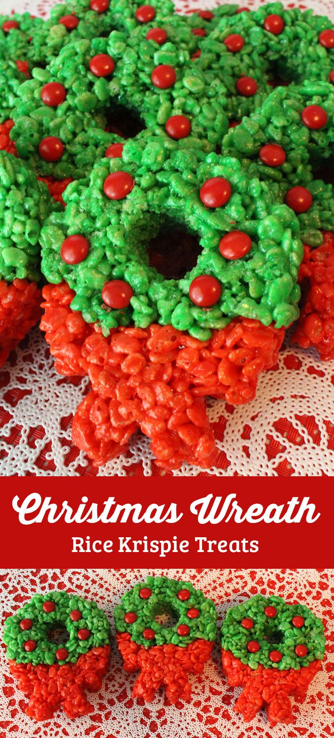 Colorful, fesitve and delicious, our Christmas Wreath Rice Krispie Treats are a Christmas Dessert that everyone will love. We have all the directions you'll need to make these special Christmas Treats for your family. Follow us for more great Christmas Food ideas.
