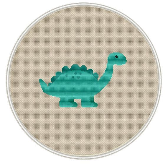 Dinosaur cross stitch pattern Instant Download by MagicCrossStitch