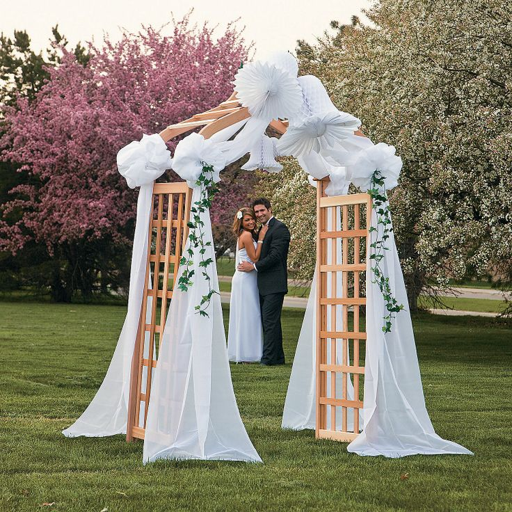 Wedding Canopy With Bells & Ivy Strings - OrientalTrading.com