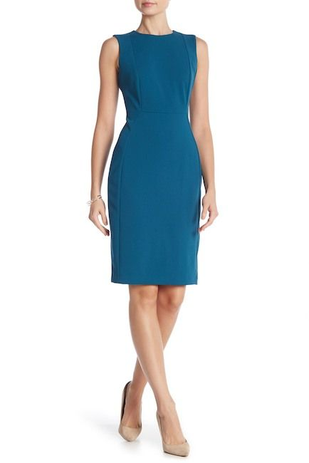 ee8d25b76b9 Image of Modern American Designer Solid Crepe Sheath Dress