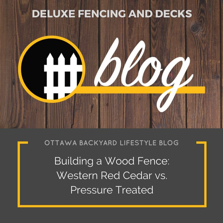 So many of our clients seem to be opting for wood fences this season. Almost all of them ask us whether it's best to go with western red cedar or pressure treated lumber. In our latest blog post we discuss the pros and cons of each to help make your decision more clear! Check out the post here: http://bit.ly/2vroGK5