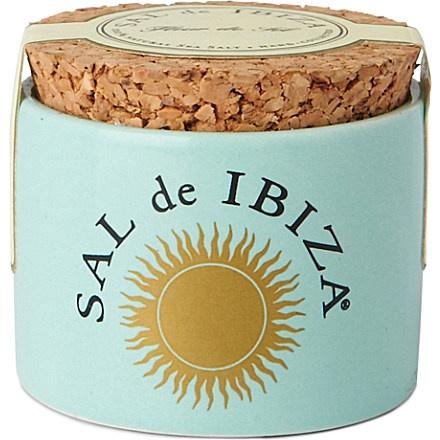 SAL DE IBIZA Fleur de Sel natural sea salt ceramic minipot 28g