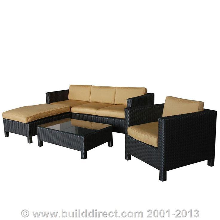 Order Kontiki Conversation Sets   Wicker Sofa Sets Ritz Sunbrella 4 Piece  Sofa Set, Delivered Right To Your Door.